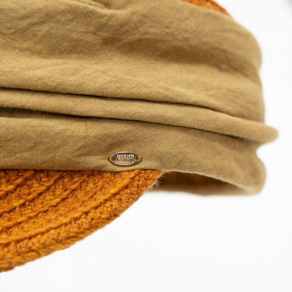ウールと布地のワークキャップ(ロゴ)