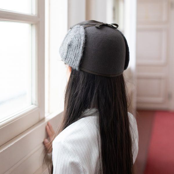 可愛いパイロット帽(着用)
