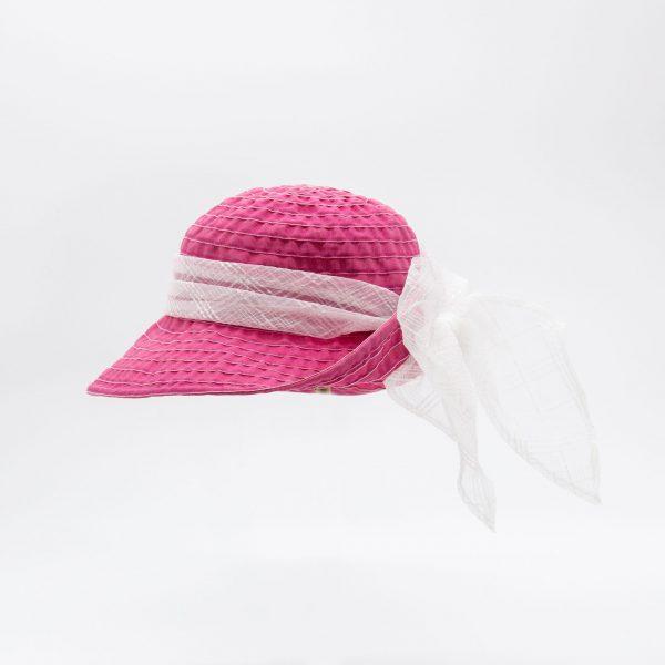 イタリア産デニムグログランハット(ピンク)