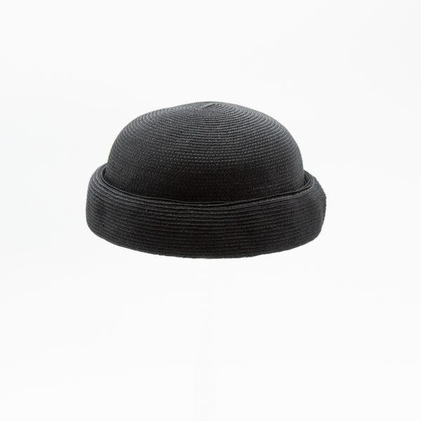 男女兼用のロールキャップ(ブラック)