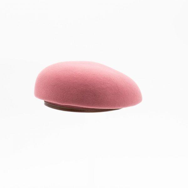 ウールパイピングレザーベレー(ピンク)