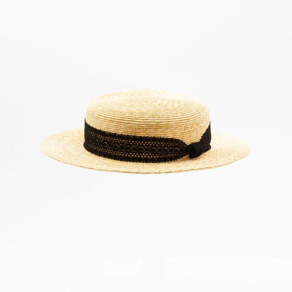 麦わらキャノチェハット(ブラック)
